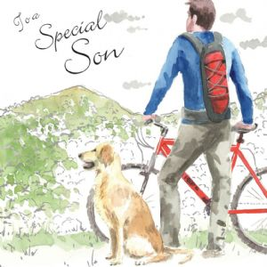 NES90 – Special Son Birthday Card with Dog